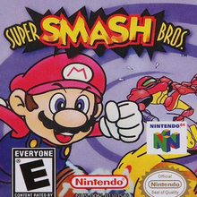 <cite>Super Smash Bros.</cite> (Nintendo 64) logo