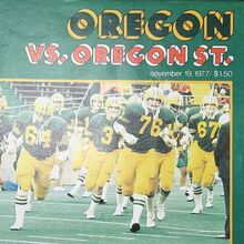 "<cite>Touchdown Illustrated</cite>, Oregon vs. Oregon State, 19<span class=""nbsp"">&nbsp;</span>Nov 1977"