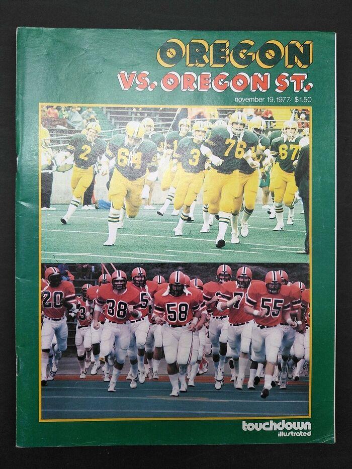 Touchdown Illustrated, Oregon vs. Oregon State, 19Nov 1977