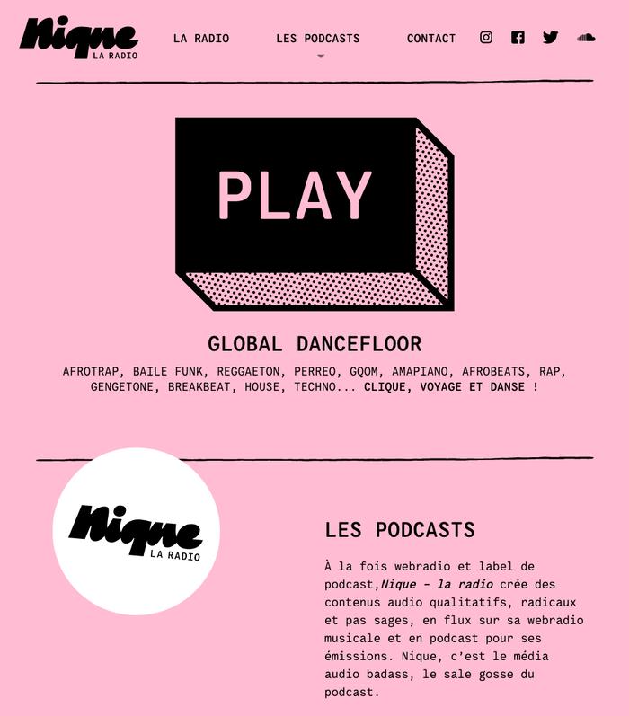 Nique – la radio 1