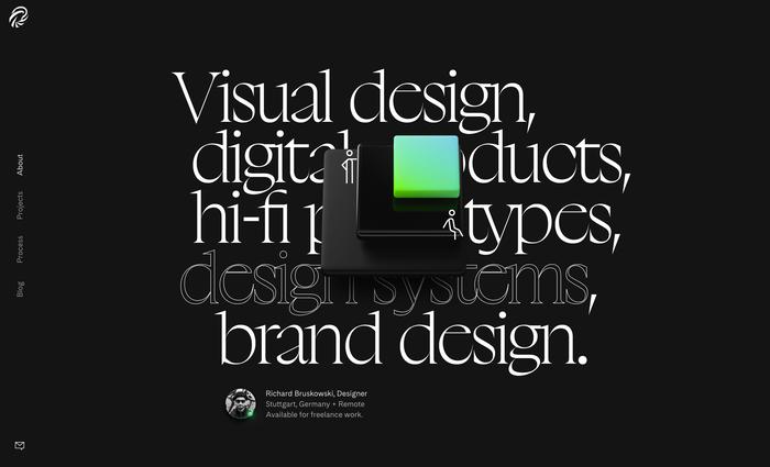 bruskowski.design portfolio website 1