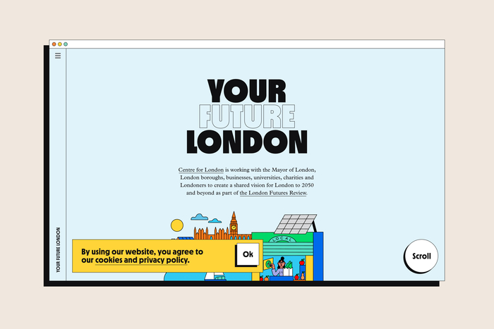 Your Future London website 1