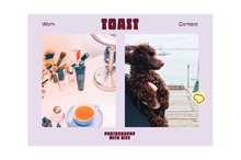 Toast photography visual identity