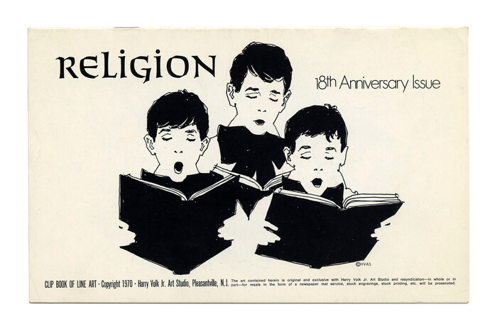 """""""Religion"""" (No. 196) ft. . """"18th Anniversary Issue"""" uses tightly spaced  Light."""