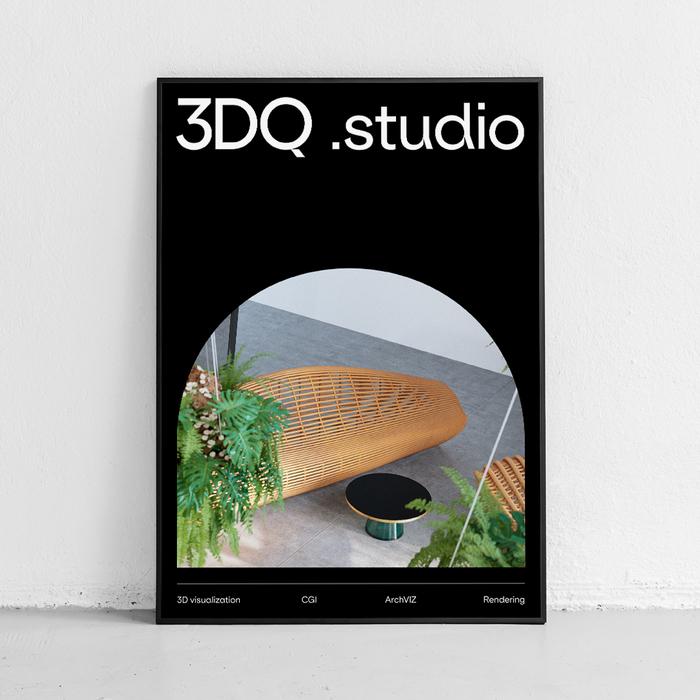 3DQ Studio identity 3