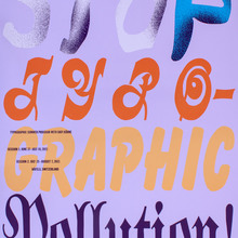 """Stop Typographic Pollution"" poster"