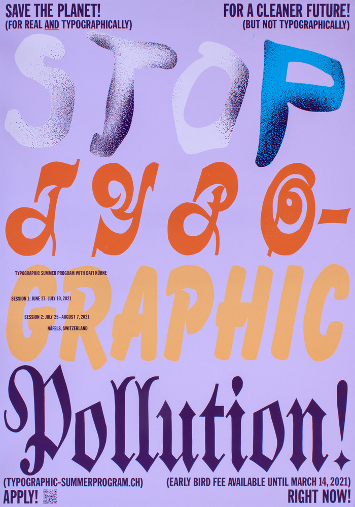 """Stop Typographic Pollution"" poster 1"