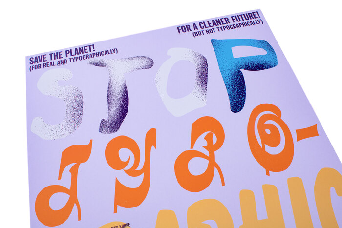 """Stop Typographic Pollution"" poster 3"