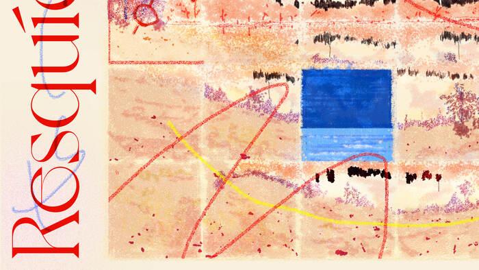Resquícios Cromáticos album cover detail.