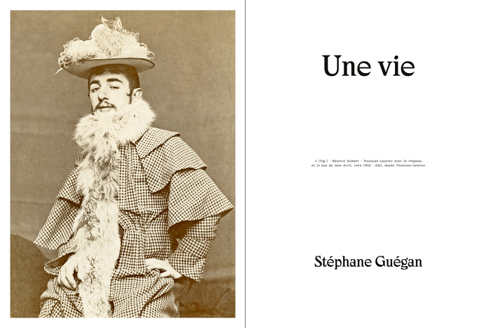 Opening spread for Stéphane Guégan's biography.