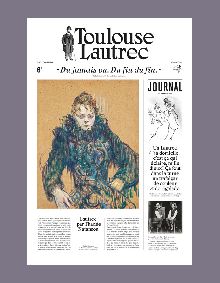 Cover of the exhibition journal, French language, 24 pages.