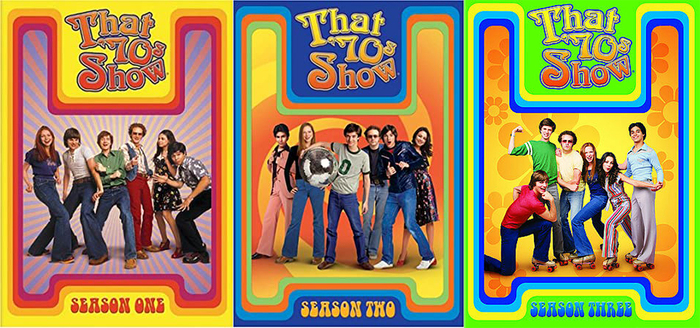 On the covers of this DVD edition, the season numbers are set in (a digital version of) the rounded bottom-heavy , a quintessential 1970s typeface.