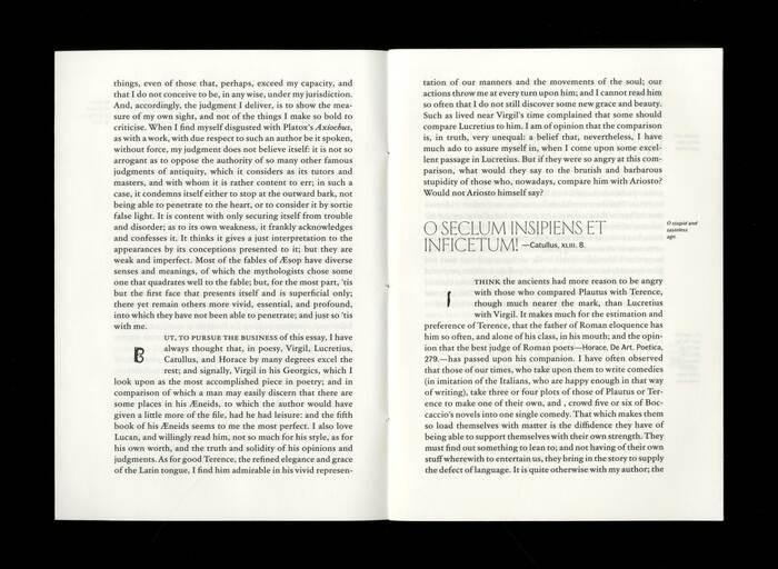 Opuscolo Editions #2, Of Books  by Michel de Montaigne 3