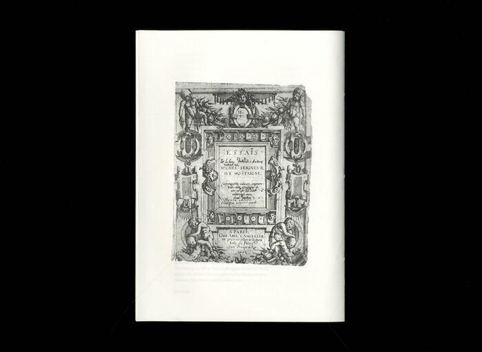 Opuscolo Editions #2, Of Books  by Michel de Montaigne 6