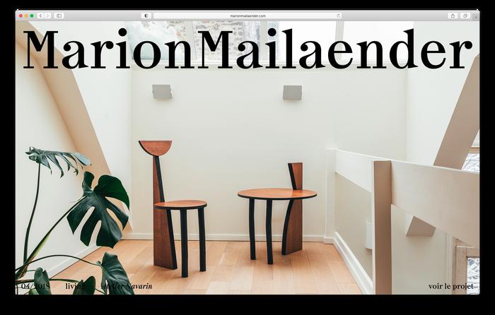Marion Mailaender website 1