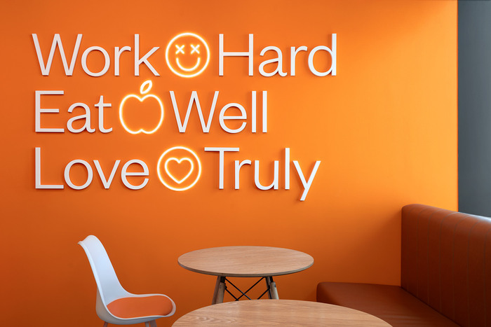 """""""Work Hard / Eat Well / Love Truly"""" in ."""