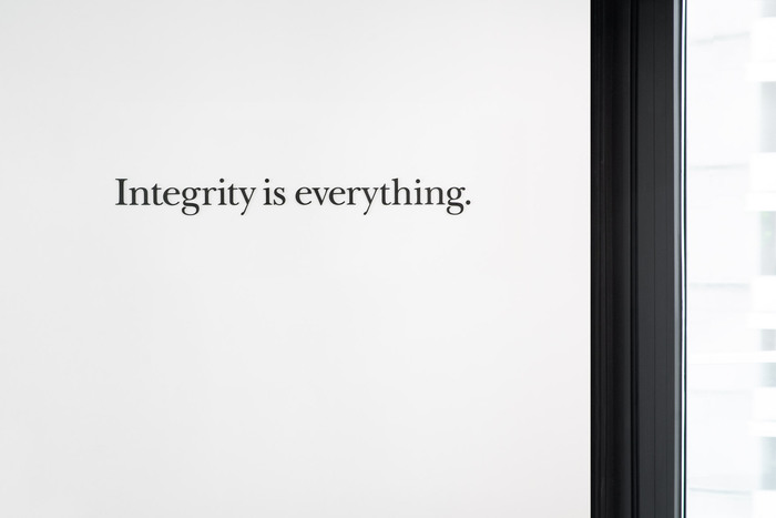 """for """"Integrity is everything""""."""