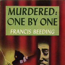 <cite>Murdered: One By One</cite> by Francis Beeding (Popular Library, 1944)