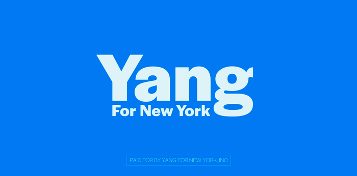 Yang for New York campaign 1