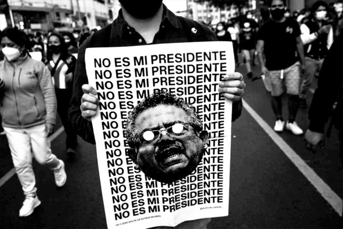 """No es mi presidente"": Not my president."