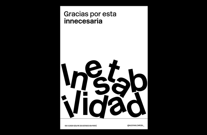 """Gracias por esta inestabilidad"" translates to: ""Thanks for this unnecesary unestability""."