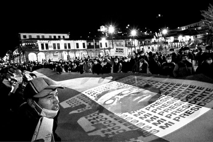 City of Cusco during protests