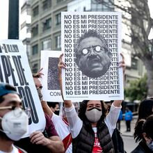 """Not my president"": 2020 Peruvian protests poster series"