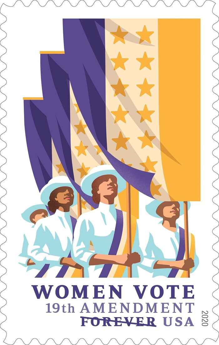 USPS commemorative stamps: Chien-Shiung Wu, Mister Rogers, Women Vote 19th Amendment 4