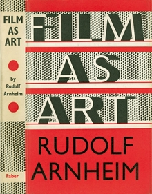 <cite>Film as Art</cite> by Rudolf Arnheim book jacket