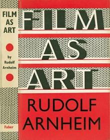 <cite>Film as Art</cite> by Rudolf Arnheim book jacket