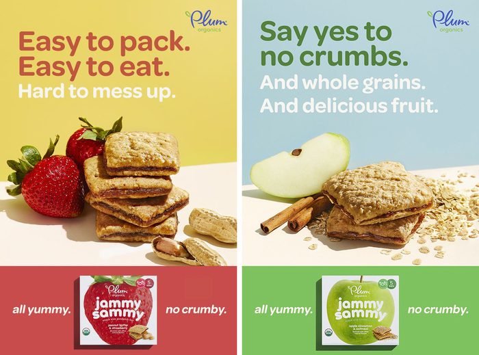 """Omnes is used with its standard forms for a g y for the """"all yummy. no crumby"""" ads."""