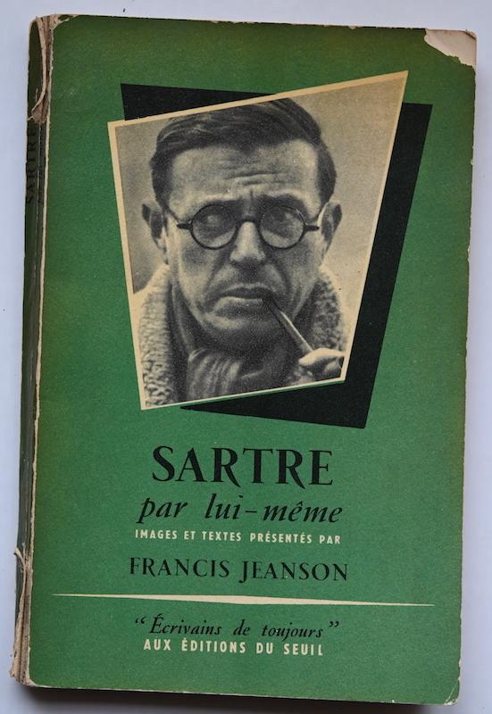 Francis Jeanson: Sartre par lui-même, n° 29, 1955. Cover photo: Cartier-Bresson (Magnum).