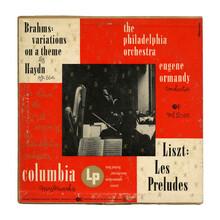 The Philadelphia Orchestra – <cite>Liszt: Les Préludes / Brahms: Variations On A Theme By Haydn</cite> album art