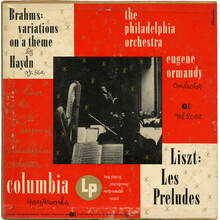 The Philadelphia Orchestra – <cite>Liszt: Les Préludes / Brahms: Variations On A Theme By Haydn</cite> album art