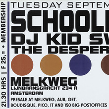Schoolly-D and DJ Kid Swift, Melkweg gig poster