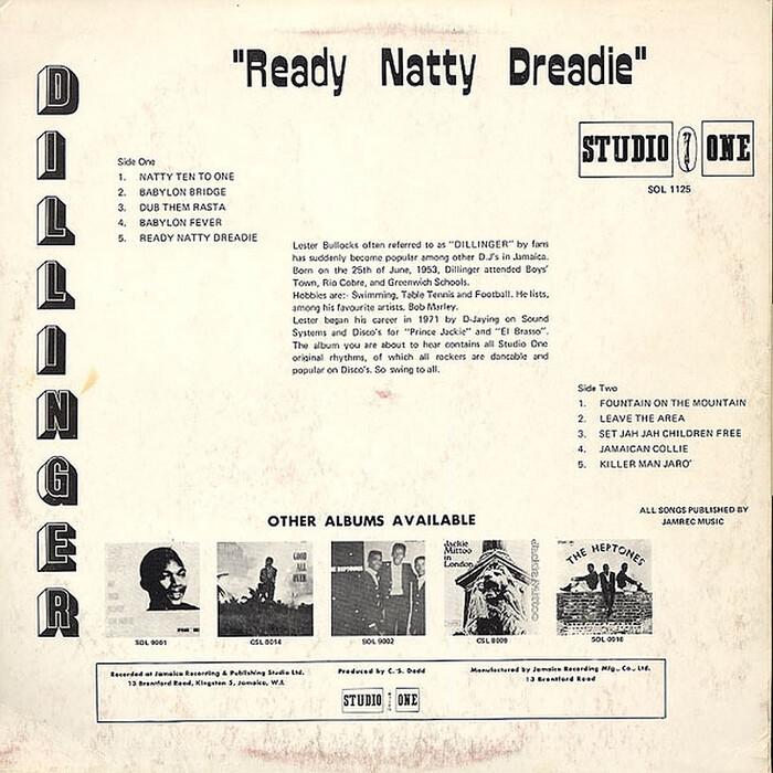 Dillinger – Ready Natty Dreadie 2