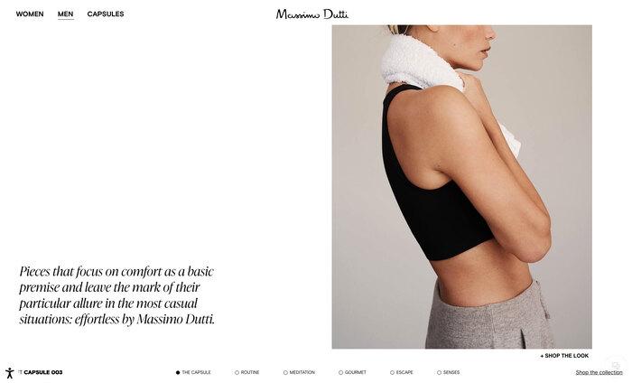 Massimo Dutti website 2