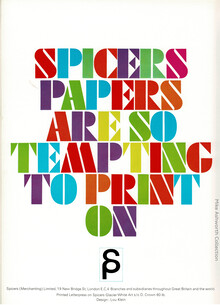 """Spicers Papers are so tempting to print on"" ad"