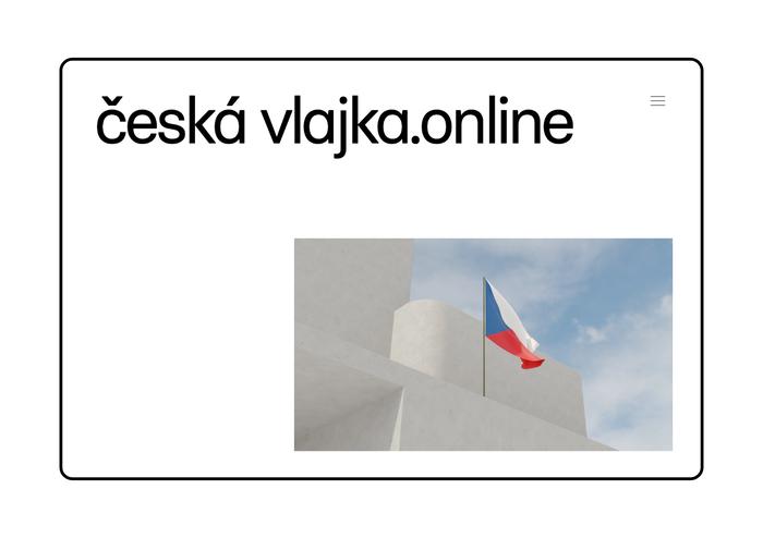 Česká vlajka website 2