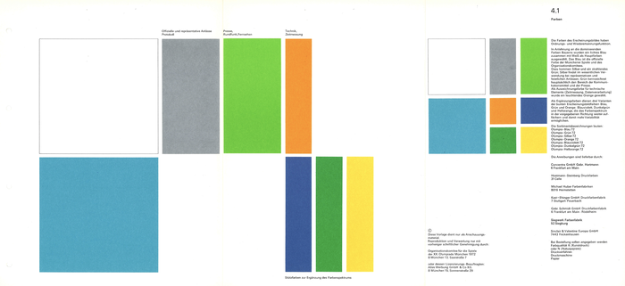 4.1 Colours:  The colours of the visual identity have a regulatory and recognition function.