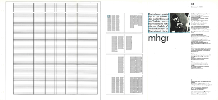 8.1 Print area ⅔ DIN A3:  All print areas are organised in the typographic Didot system.