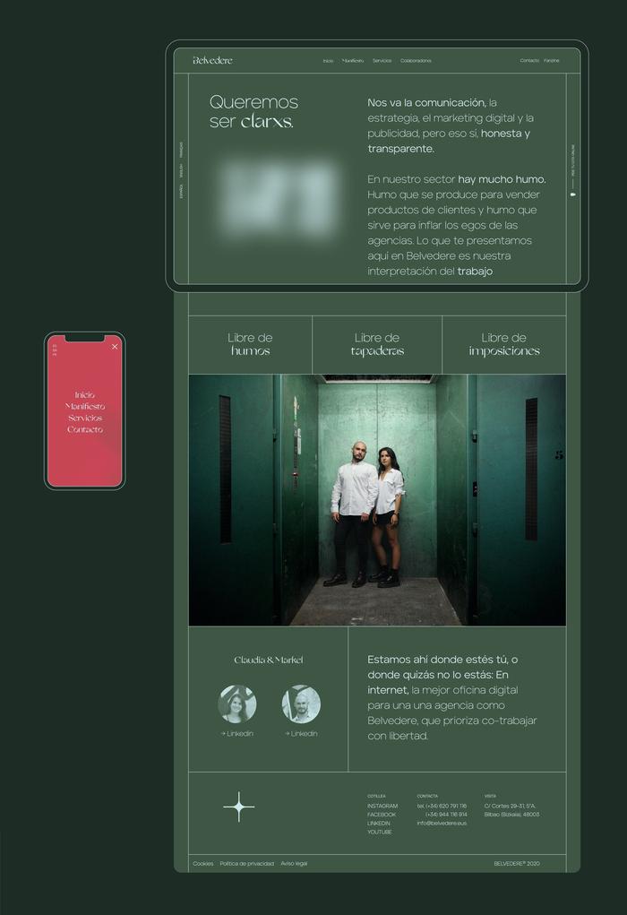 Belvedere Agency identity & website 2