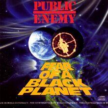 Public Enemy –<cite>Fear of a Black Planet</cite> album cover
