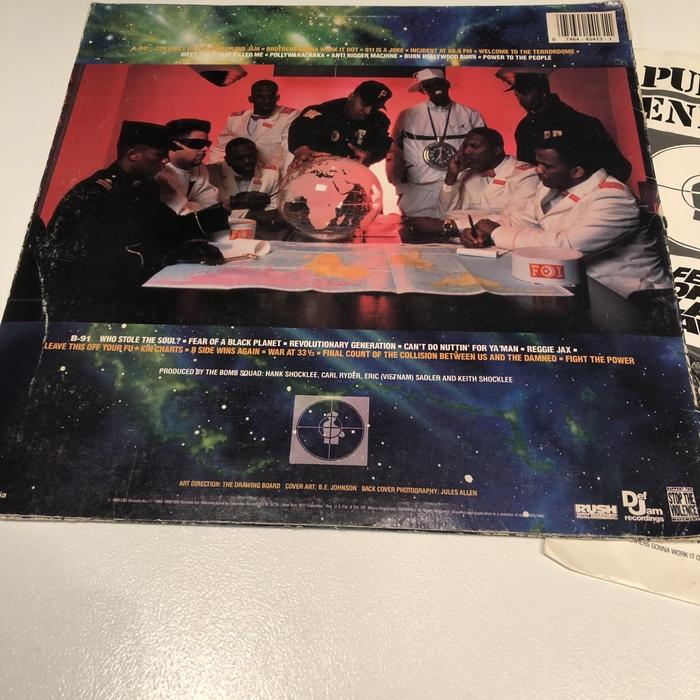 Public Enemy –Fear of a Black Planet album cover 3