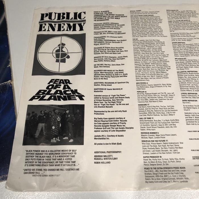 Public Enemy –Fear of a Black Planet album cover 4