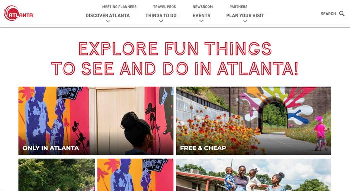 Discover Atlanta website 5