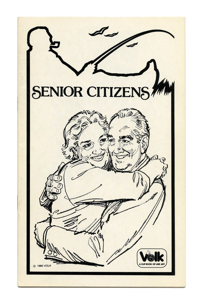 """Senior Citizens"" (No. 765) ft. all-caps  with initial and terminal swash forms."