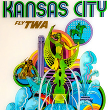 Kansas City poster for TWA