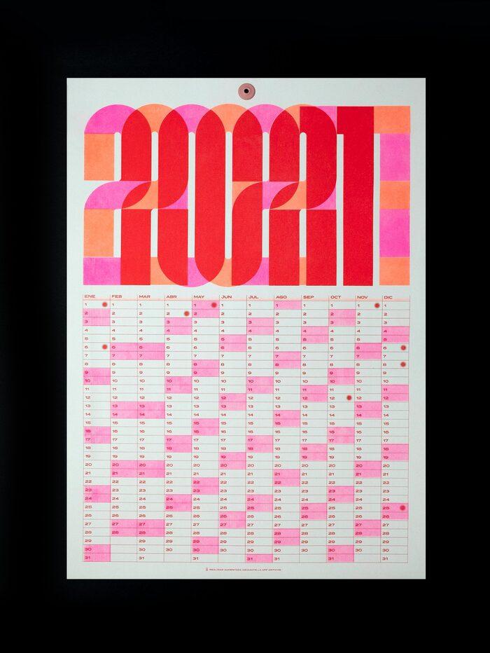 2021 risograph calendar 3