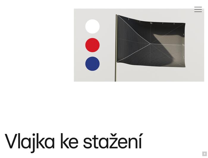 Česká vlajka website 1